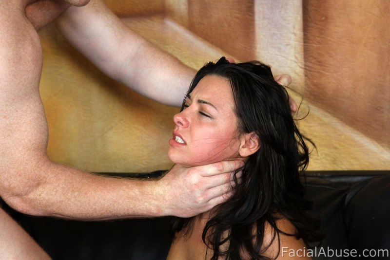 Hot babe throat fucked