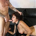 Submissive Brunette Slut Does Extreme Deepthroat