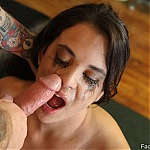 Deepthroat Brunette Whore Gia Love Gets Throat Fucked and Ass Fucked