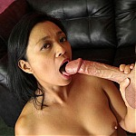 Asian Mom Gets Her Throat Drilled By Two Big Cocks