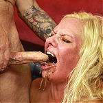 Rough Deep Throat Puke With Amateur Blonde Mom Kylie Smith