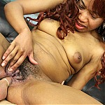 Black Asian Slut Kailie Lee Gets Her Face Fucked and Ass Penetrated