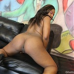 Black Slut Layla Ray Gets Throat Fucked At Ghetto Gaggers