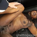Submissive Black Woman Gets Her Throat Dominated By A White Guy