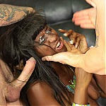 Brutal Ebony Throat Fuck Puke With Black Whore Passion Delight