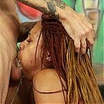 Deep Throat Gagging For Ebony Country Whore Oreanna