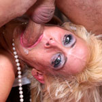 Sexy Blonde MILF Mikki Lynn Gets Her Throat Fucked Deep and Hard