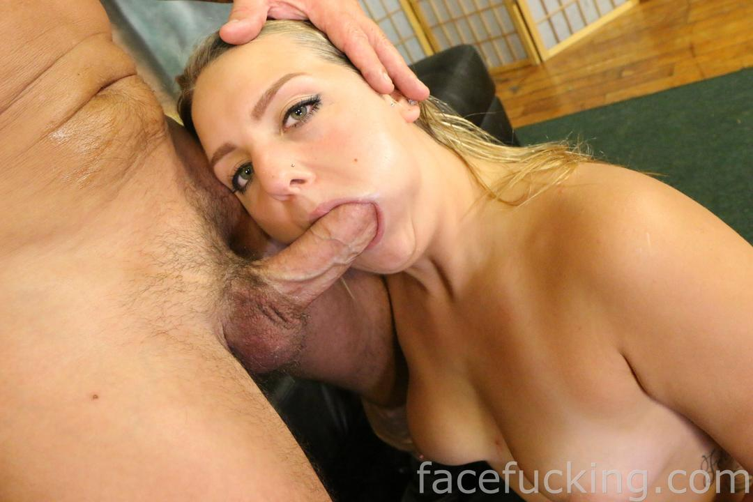 video handcuffs: first blowjob then fucking! cumshots right on her face!