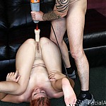 Intense Redhead Throat Fuck and Anal Sex