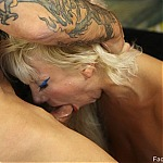 Blonde Whore Pushed To Her Throat Fucking Limits