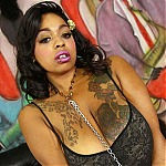 Ebony BBW Whore Paisley Puddlez Gets Her Throat Fucked Balls Deep