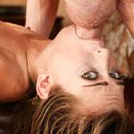 Cock Gagging Pornstar Riley Reid's Balls Deep Throat Fuck Video